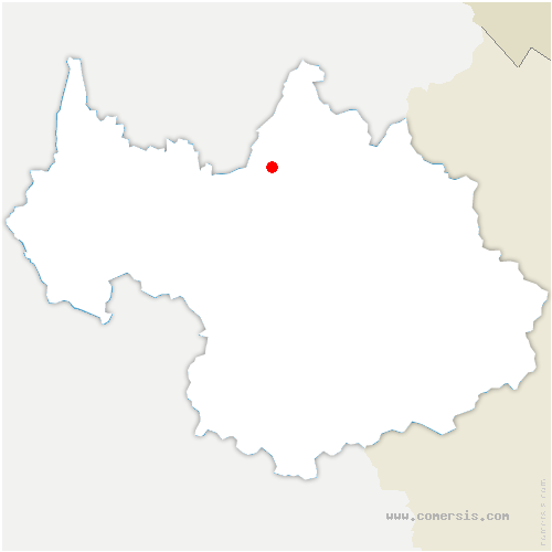 carte de localisation de Pallud