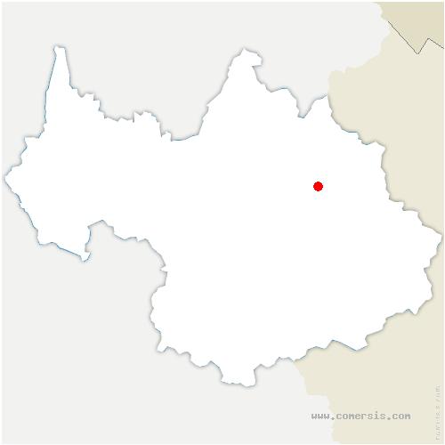 carte de localisation de Peisey-Nancroix