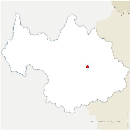 carte de localisation de Planay