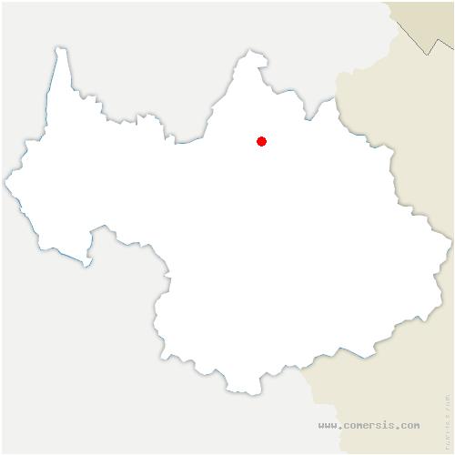 carte de localisation de Pont-de-Beauvoisin