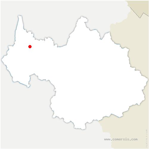carte de localisation de Pugny-Chatenod