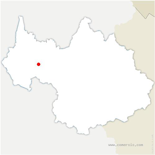 carte de localisation de Puygros