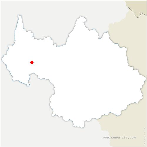 carte de localisation de Ravoire