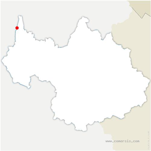 carte de localisation de Ruffieux