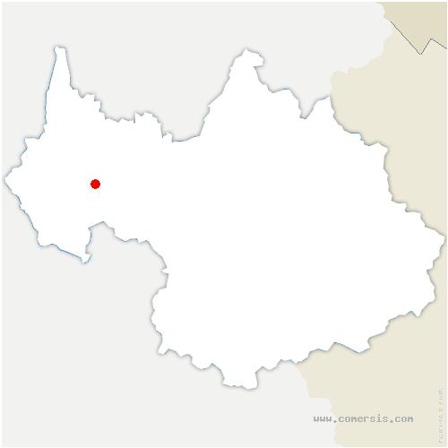 carte de localisation de Saint-Alban-Leysse