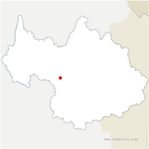 carte de localisation de Saint-Alban-des-Hurtières