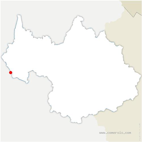 carte de localisation de Saint-Franc
