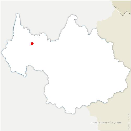 carte de localisation de Saint-François-de-Sales