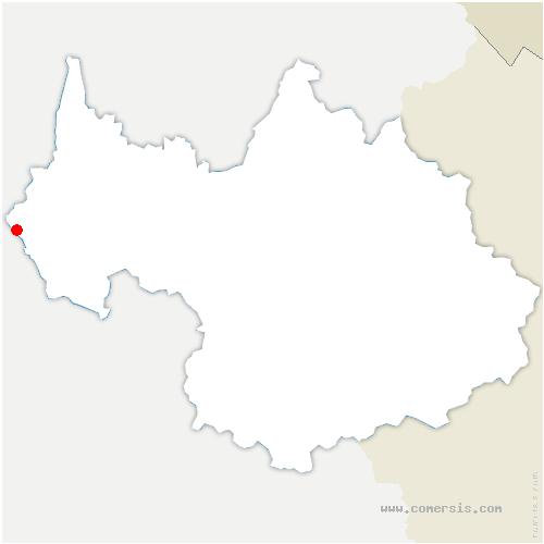 carte de localisation de Saint-Genix-les-Villages