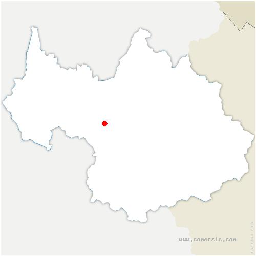 carte de localisation de Saint-Georges-des-Hurtières