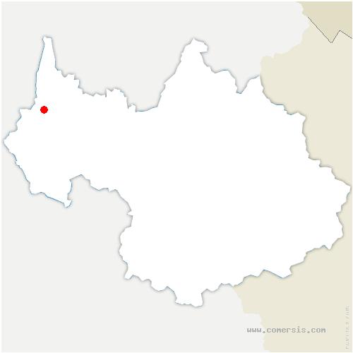 carte de localisation de Saint-Jean-de-Chevelu