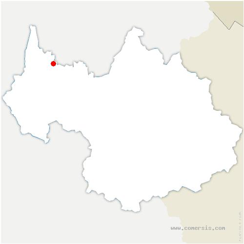 carte de localisation de Saint-Ours