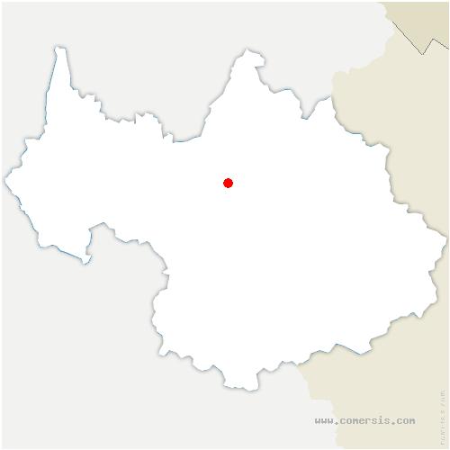carte de localisation de Saint-Paul-sur-Isère