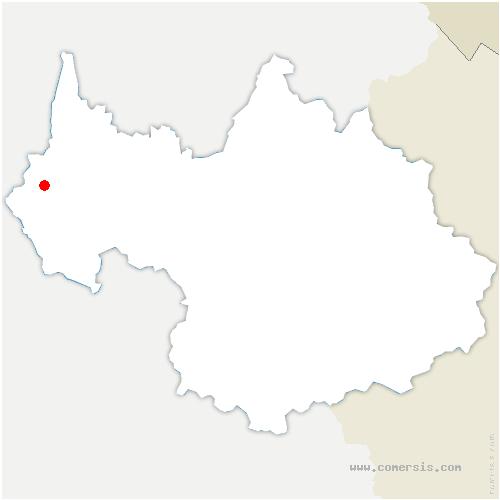 carte de localisation de Saint-Pierre-d'Alvey