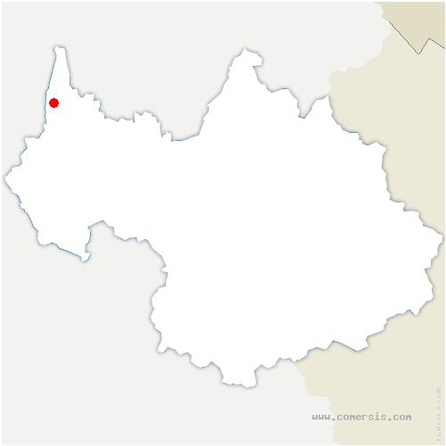 carte de localisation de Saint-Pierre-de-Curtille