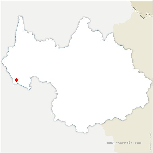 carte de localisation de Saint-Pierre-de-Genebroz