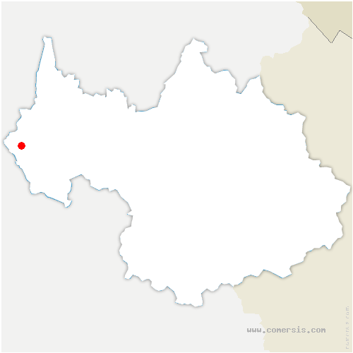 carte de localisation de Sainte-Marie-d'Alvey