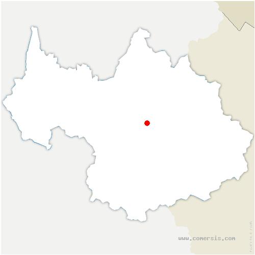 carte de localisation de Salins-Fontaine