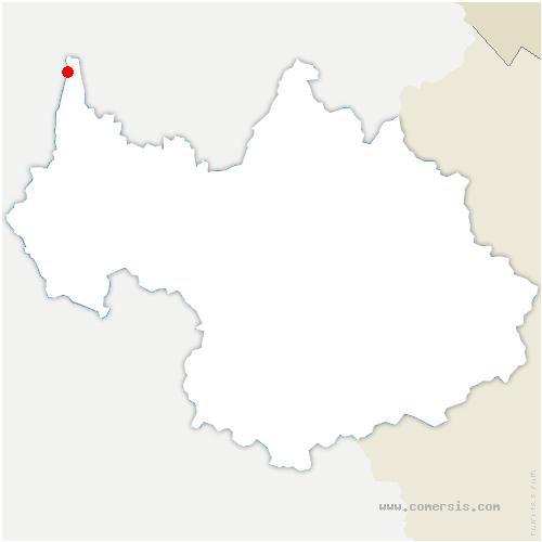 carte de localisation de Serrières-en-Chautagne