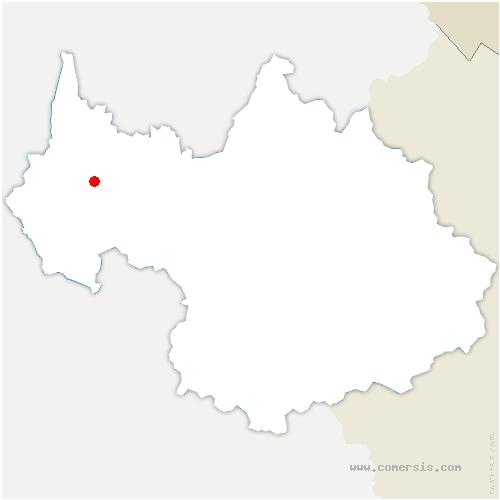 carte de localisation de Sonnaz