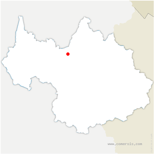 carte de localisation de Tournon
