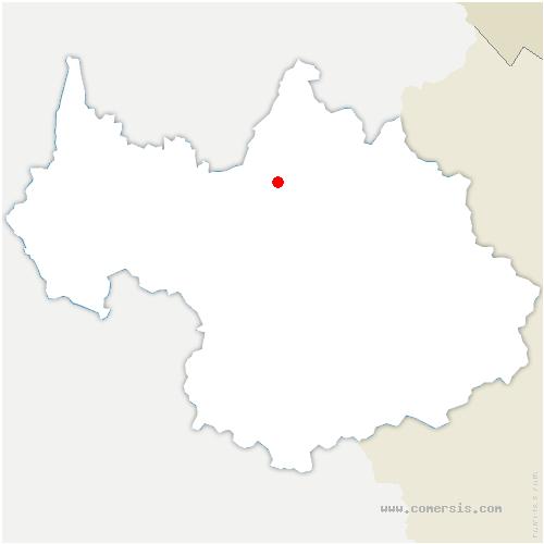 carte de localisation de Tours-en-Savoie