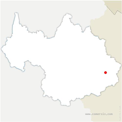 carte de localisation de Val-Cenis