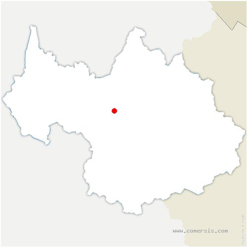 carte de localisation de Val-d'Arc