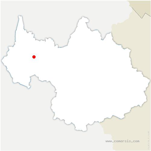 carte de localisation de Verel-Pragondran