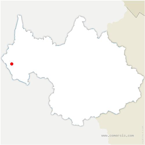 carte de localisation de Verel-de-Montbel