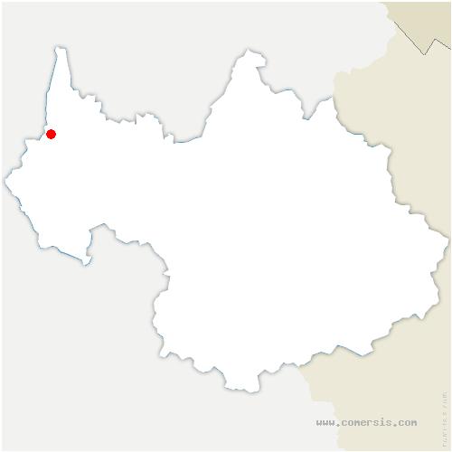 carte de localisation de Yenne