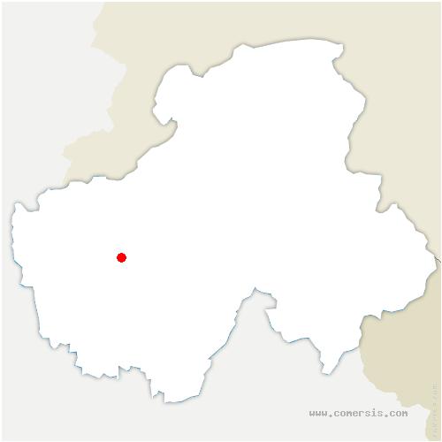 carte de localisation de Allonzier-la-Caille