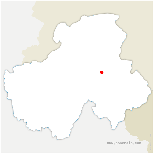 carte de localisation de Arâches-la-Frasse