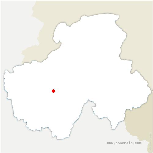 carte de localisation de Aviernoz