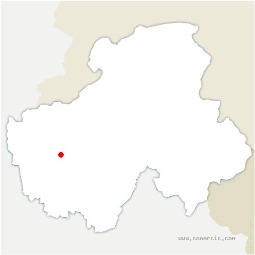 carte de localisation de Balme-de-Sillingy
