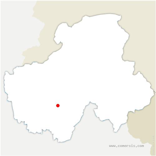 carte de localisation de Balme-de-Thuy