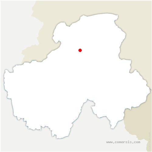 carte de localisation de Bogève