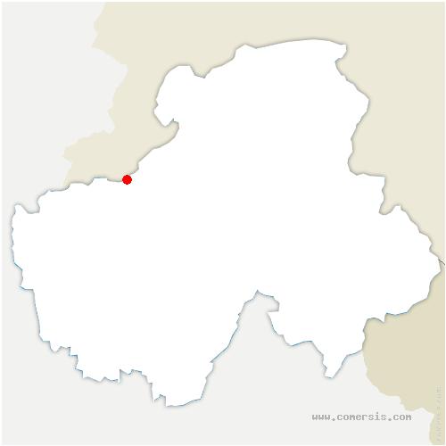 carte de localisation de Bossey