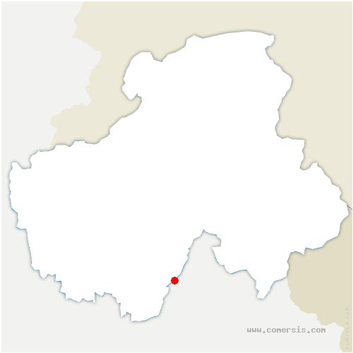carte de localisation de Bouchet-Mont-Charvin