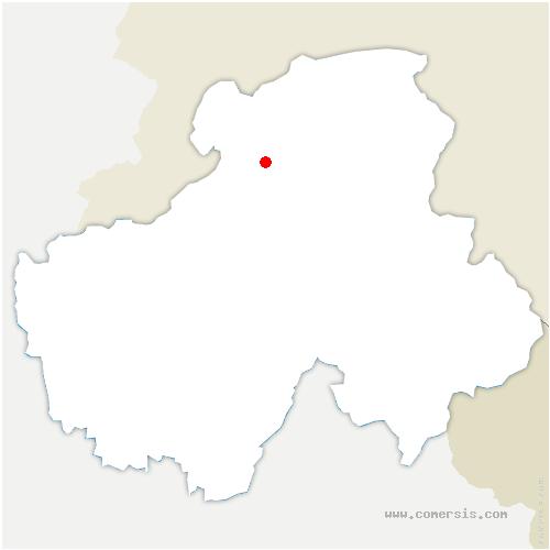 carte de localisation de Burdignin