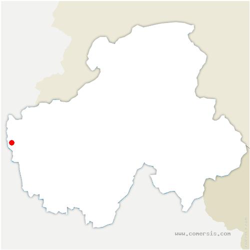 carte de localisation de Challonges