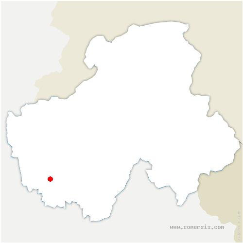 carte de localisation de Chapeiry