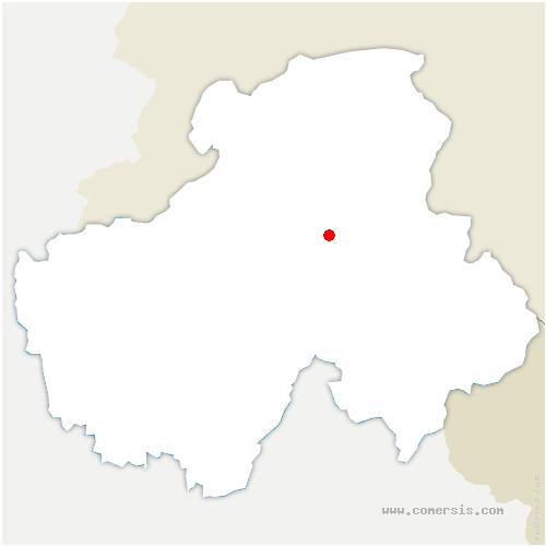 carte de localisation de Châtillon-sur-Cluses
