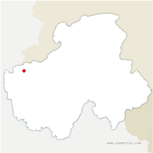 carte de localisation de Chênex