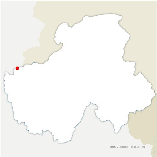 carte de localisation de Chevrier