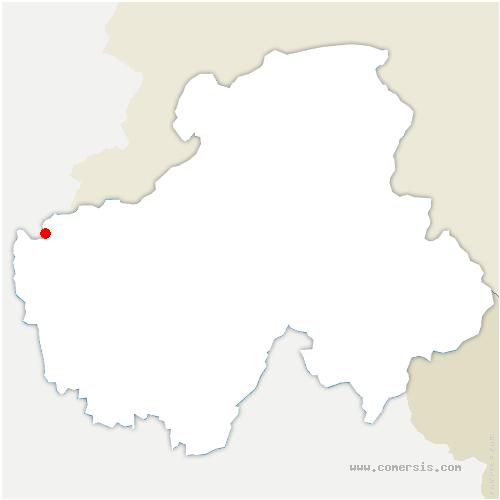 carte de localisation de Clarafond-Arcine