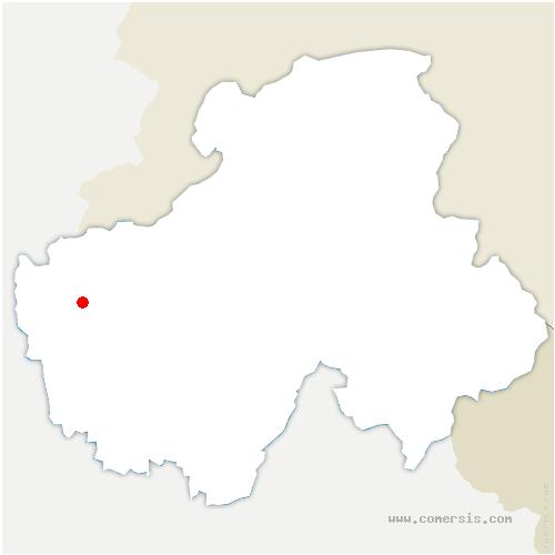 carte de localisation de Contamine-Sarzin