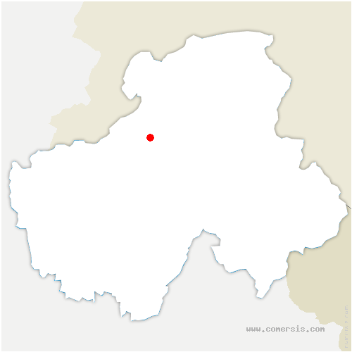 carte de localisation de Contamine-sur-Arve