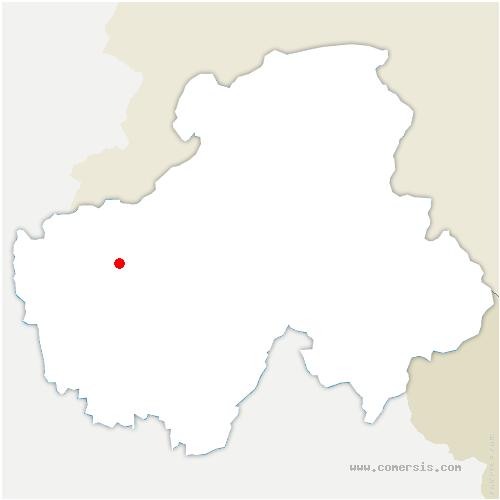 carte de localisation de Copponex