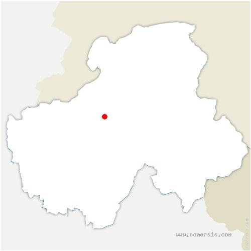 carte de localisation de Cornier